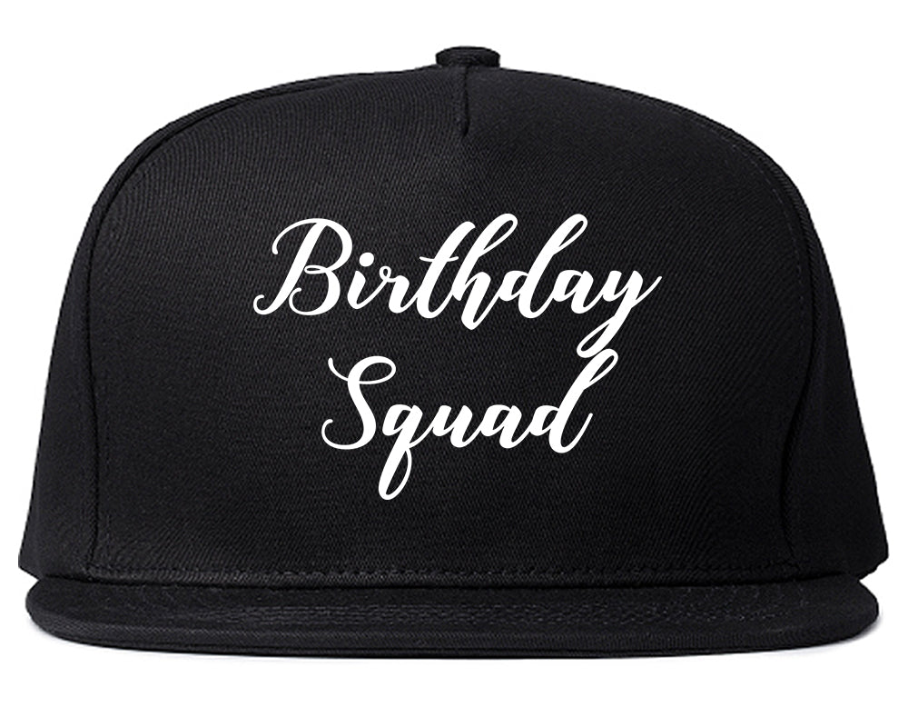 Birthday Squad Party Black Snapback Hat