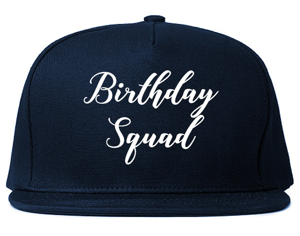Birthday Squad Party Blue Snapback Hat