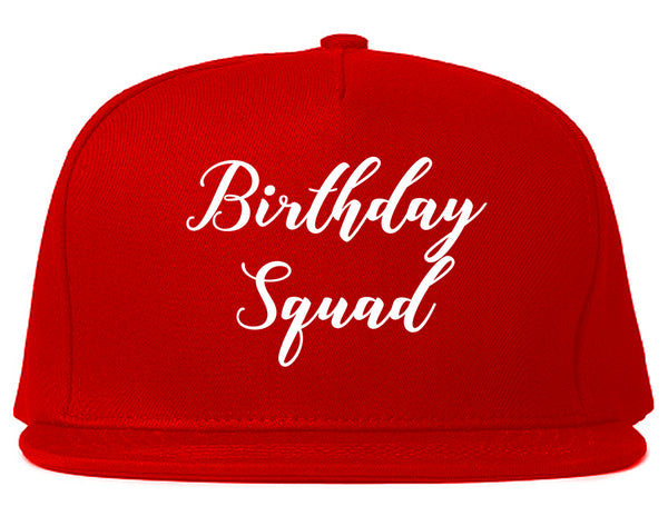 Birthday Squad Party Red Snapback Hat