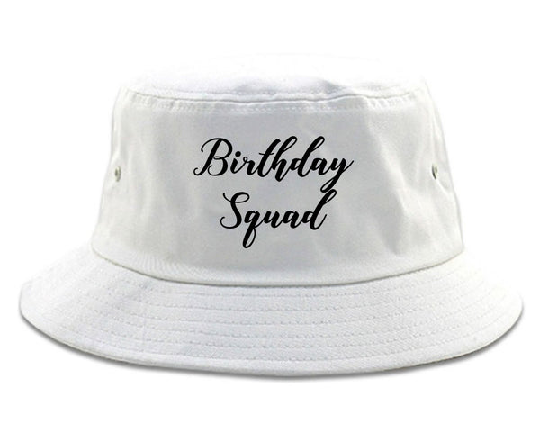 Birthday Squad Party white Bucket Hat