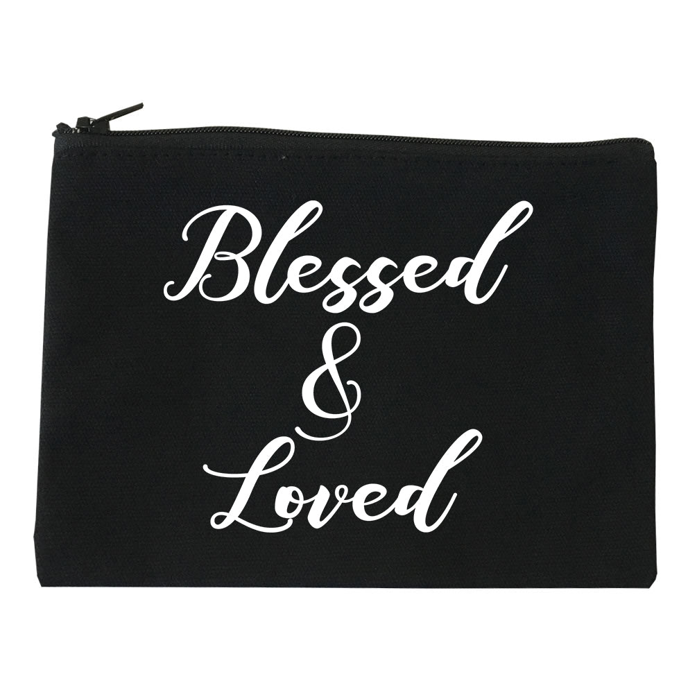 Blessed And Loved Black Makeup Bag