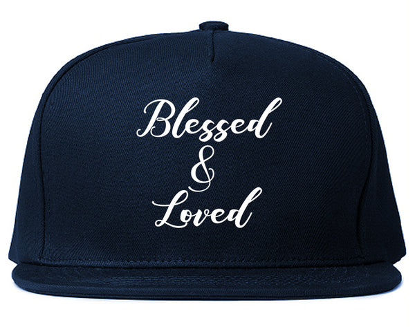 Blessed And Loved Blue Snapback Hat