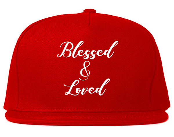 Blessed And Loved Red Snapback Hat