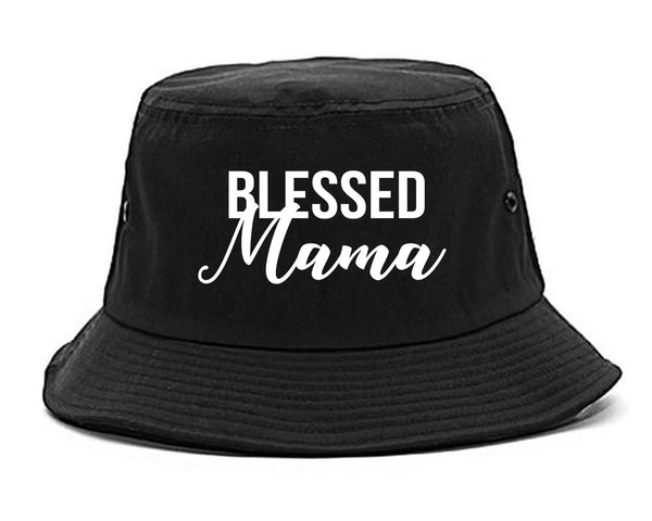 Blessed Mama Black Bucket Hat