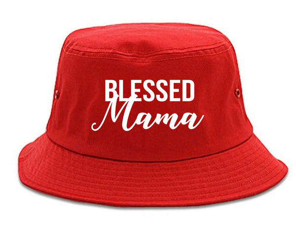 Blessed Mama Red Bucket Hat
