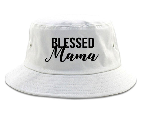 Blessed Mama White Bucket Hat