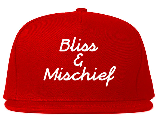 Bliss And Mischief Snapback Hat Red