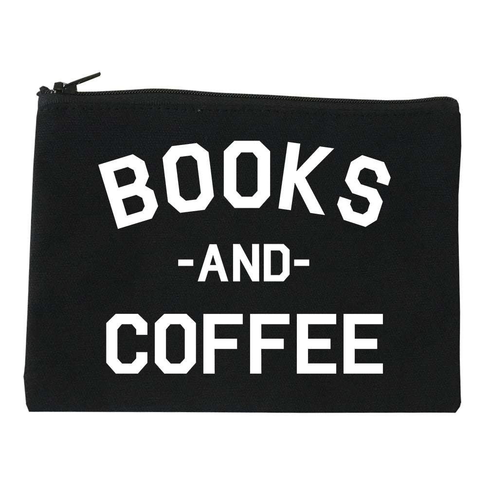 Books And Coffee Funny Reading Black Makeup Bag