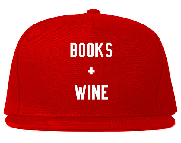 Books And Wine Red Snapback Hat