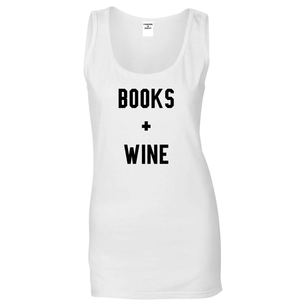 Books And Wine White Tank Top