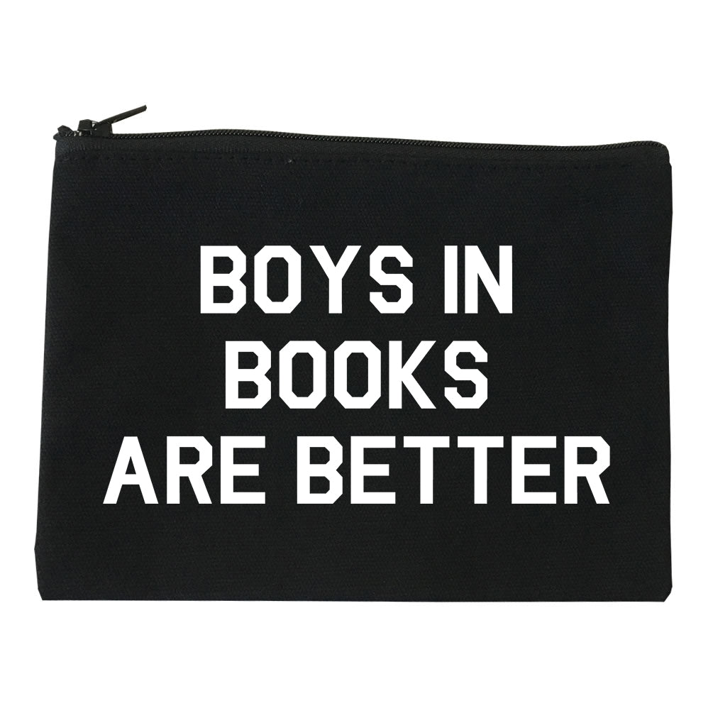Boys In Books Are Better Reading Black Makeup Bag
