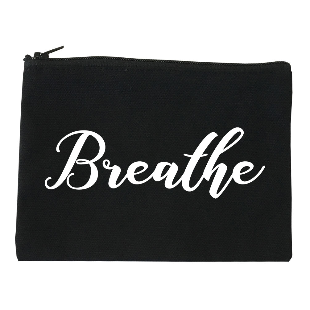 Breathe Yoga Peaceful Black Makeup Bag