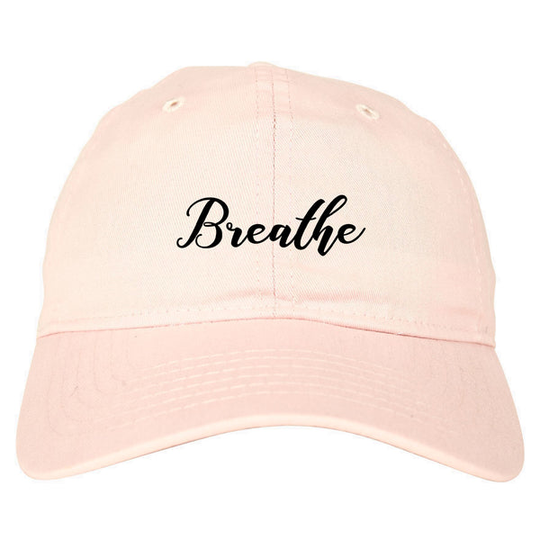 Breathe Yoga Peaceful Pink Dad Hat