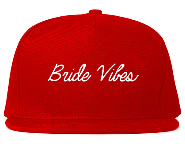 Bride Vibes Bachelorette Red Snapback Hat