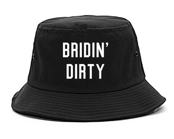 Bridin Dirty Engaged black Bucket Hat