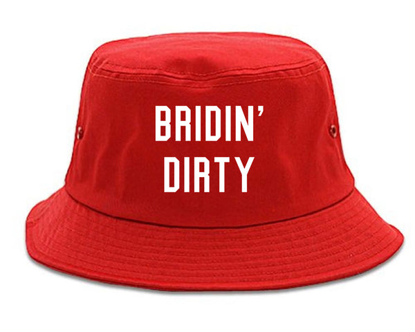 Bridin Dirty Engaged red Bucket Hat