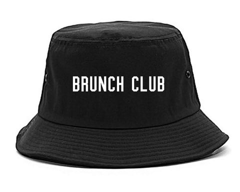 Brunch Club Black Bucket Hat