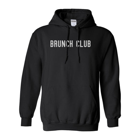Brunch Club Black Pullover Hoodie