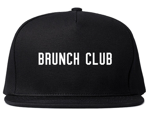 Brunch Club Black Snapback Hat