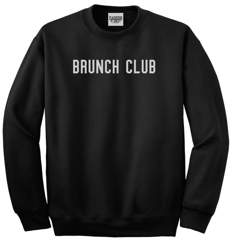 Brunch Club Black Crewneck Sweatshirt