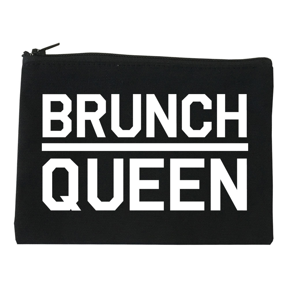 Brunch Queen Food black Makeup Bag