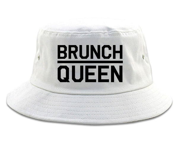 Brunch Queen Food white Bucket Hat