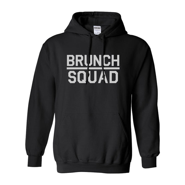 Brunch Squad Food Black Womens Pullover Hoodie