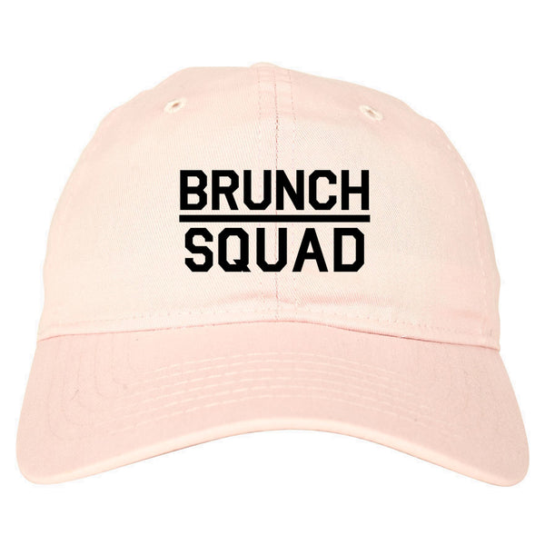 Brunch Squad Food pink dad hat