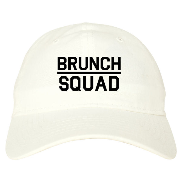 Brunch Squad Food white dad hat