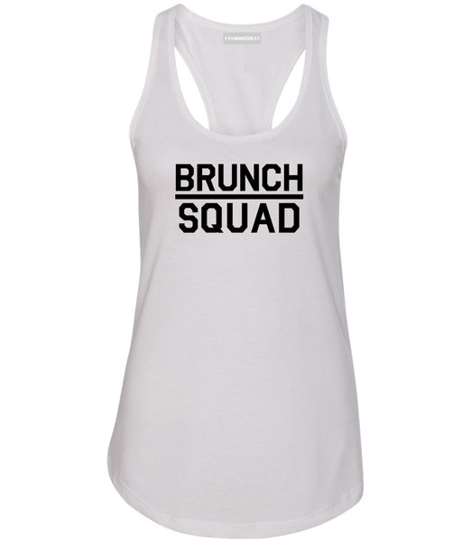 Brunch Squad Food White Womens Racerback Tank Top