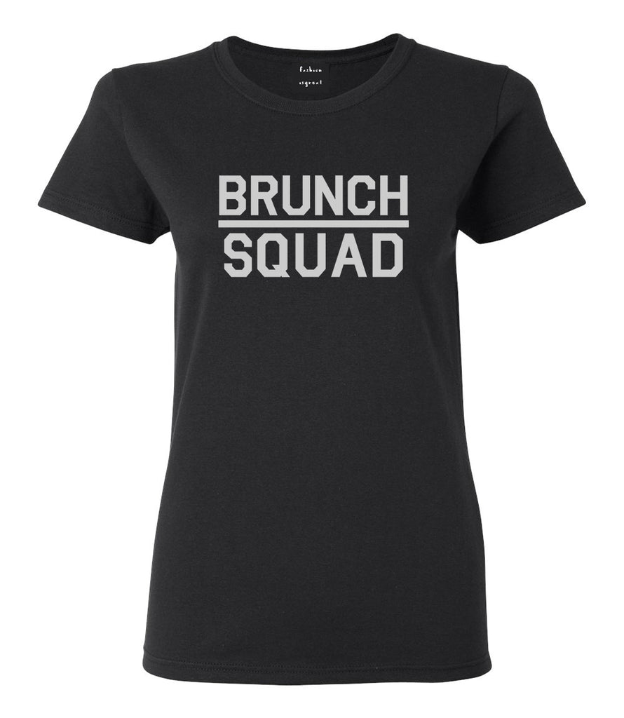 Brunch Squad Food Black Womens T-Shirt