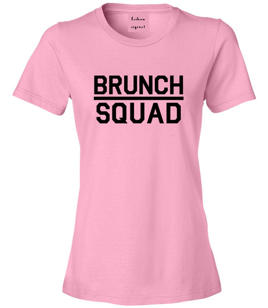 Brunch Squad Food Pink Womens T-Shirt