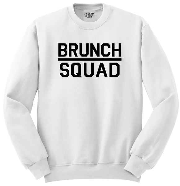 Brunch Squad Food White Womens Crewneck Sweatshirt