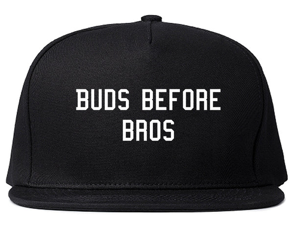 Buds Before Bros Snapback Hat Black