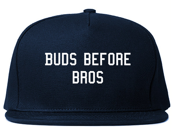 Buds Before Bros Snapback Hat Blue