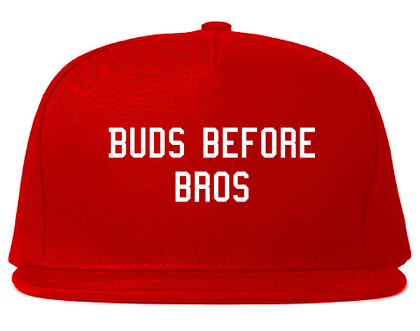 Buds Before Bros Snapback Hat Red