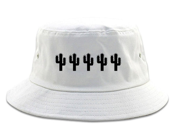 Cactus Plant Lover white Bucket Hat