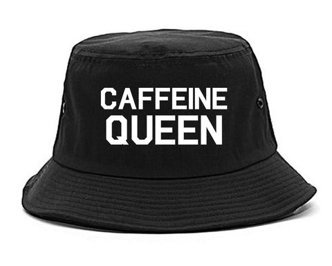 Caffeine Queen Coffee Black Bucket Hat