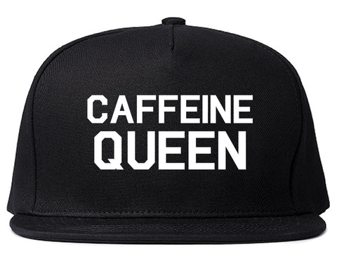 Caffeine Queen Coffee Black Snapback Hat