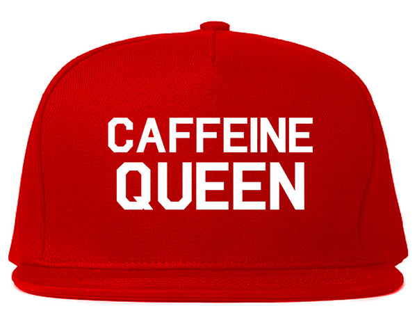 Caffeine Queen Coffee Red Snapback Hat