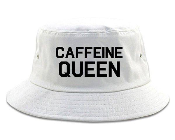 Caffeine Queen Coffee White Bucket Hat