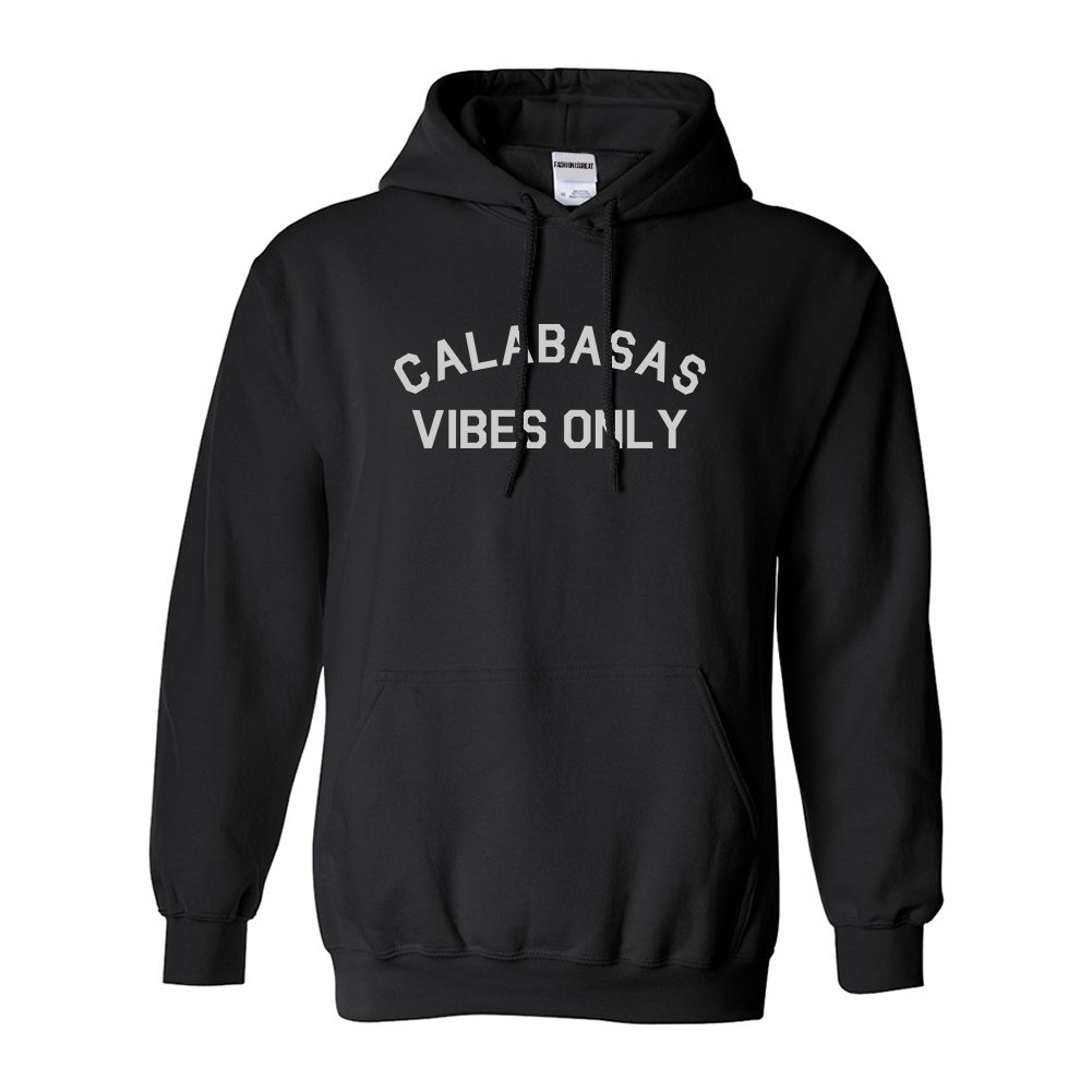 Calabasas Vibes Only California Black Womens Pullover Hoodie