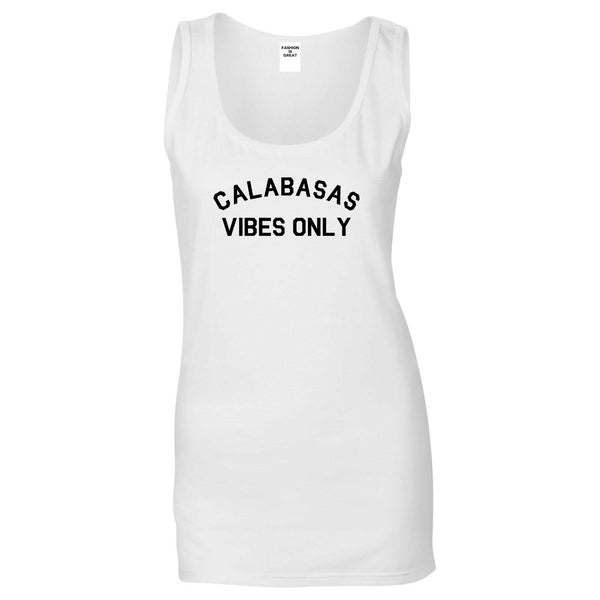 Calabasas Vibes Only California White Womens Tank Top