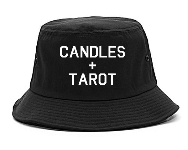 Candles And Tarot Cards black Bucket Hat