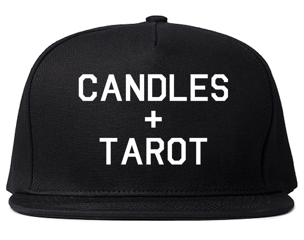 Candles And Tarot Cards Black Snapback Hat
