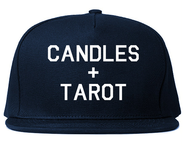 Candles And Tarot Cards Blue Snapback Hat