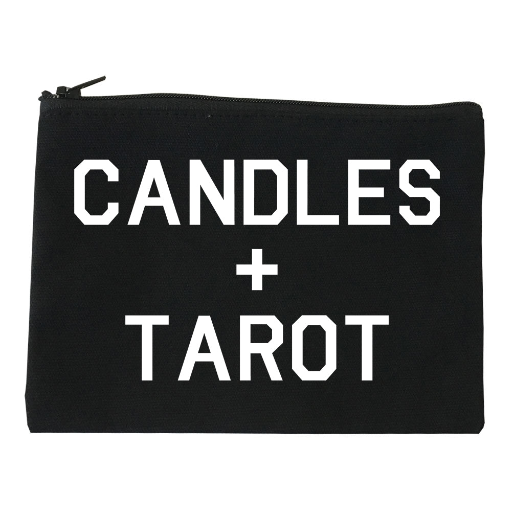 Candles And Tarot Cards black Makeup Bag
