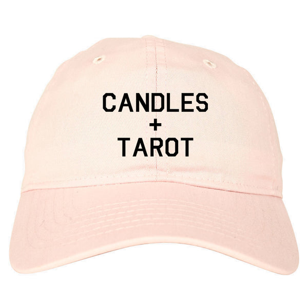 Candles And Tarot Cards pink dad hat