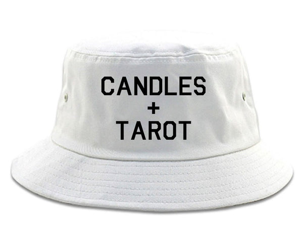 Candles And Tarot Cards white Bucket Hat