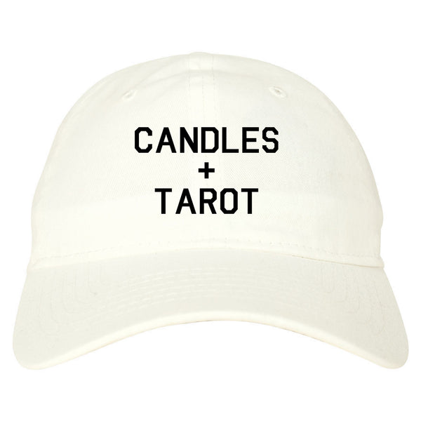 Candles And Tarot Cards white dad hat
